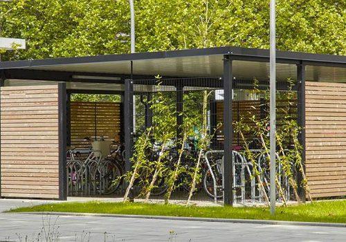 Velounterstand Stahl und Holz by «projekt w» von www.business-supporter.ch