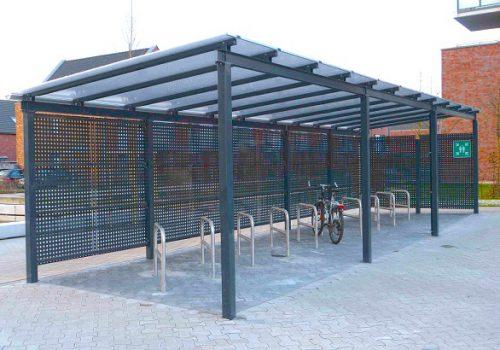 Robuster Fahrrad-Velounterstand aus Stahl by «projekt w» von www.business-supporter.ch