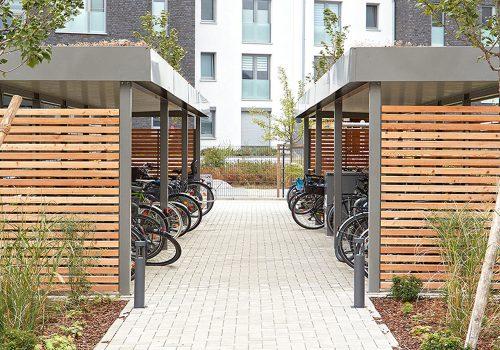 Einhausung für Fahrräder projekt w