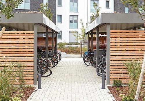Einhausung für Fahrräder projekt w1