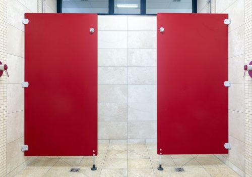 Duschwand, Dusche, rubinrot