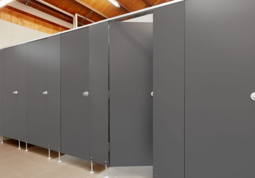 Graphitgrau WC Trennwand Kabine