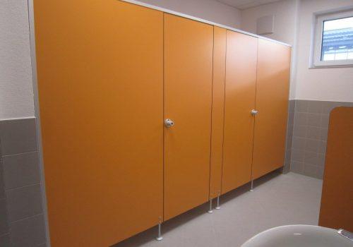 WC-Kabinen orange