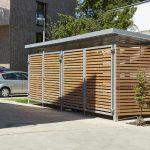 Velounterstand Müllcontainer-Einhausung www.business-supporter.ch