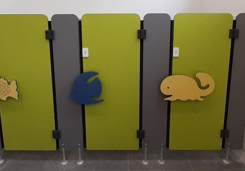 WC Trennwände für Kindergärten und Kita