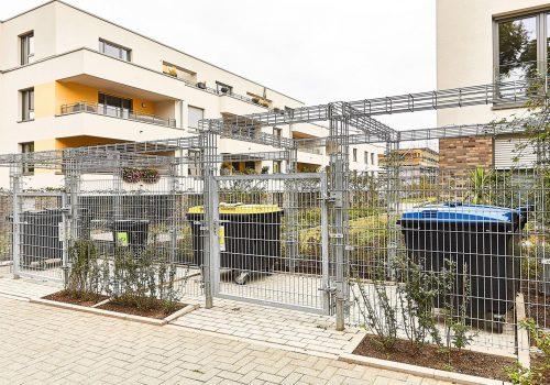 Gitter-Sichtschutzwand für Müllcontainer und Abfallplätze